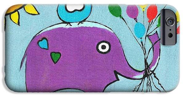 Baby Bird iPhone Cases - Up Up And Away iPhone Case by Kathleen Sartoris