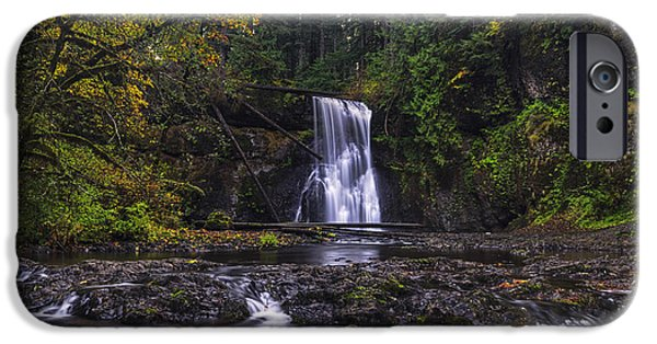 October iPhone Cases - Upper North Falls iPhone Case by Mark Kiver