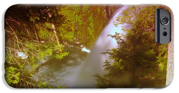 River View iPhone Cases - Upper Union Creek Falls  iPhone Case by Jeff  Swan