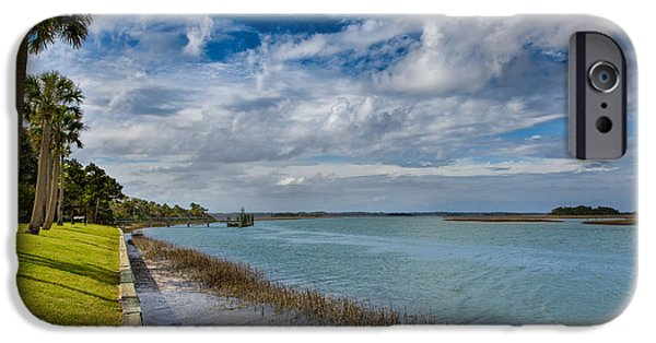 Business Photographs iPhone Cases - Upriver iPhone Case by John Bailey