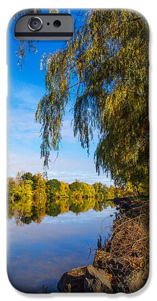 River View iPhone Cases - UpStream View iPhone Case by Karol  Livote
