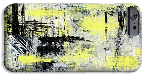 Modern Abstract iPhone Cases - Urban Abstract iPhone Case by Christina Rollo