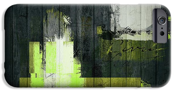 Contemporary Abstract iPhone Cases - Urban Artan - s0112 - green iPhone Case by Variance Collections