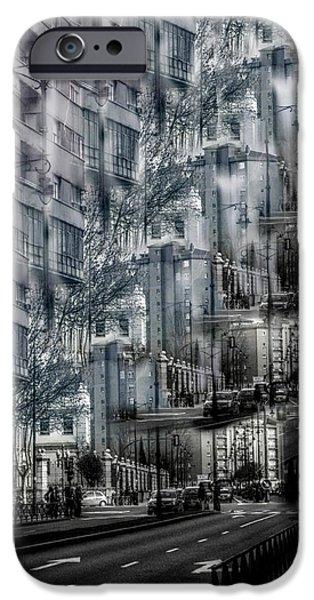Relativity iPhone Cases - Urban Realativity iPhone Case by Angel Jesus De la Fuente