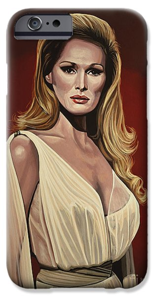 Model iPhone Cases - Ursula Andress 2 iPhone Case by Paul Meijering
