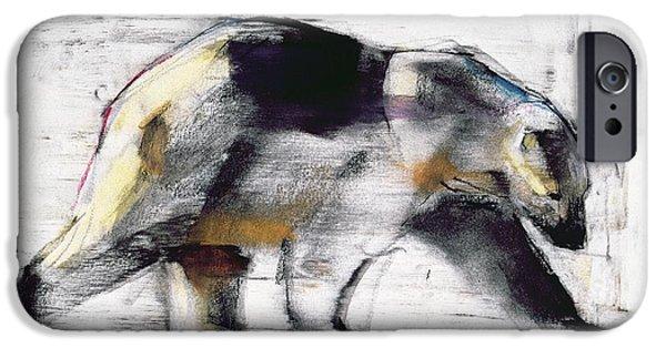 Wild Animals Pastels iPhone Cases - Ursus Maritimus iPhone Case by Mark Adlington