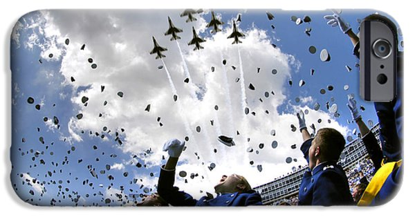 Graduation iPhone Cases - U.s. Air Force Academy Graduates Throw iPhone Case by Stocktrek Images