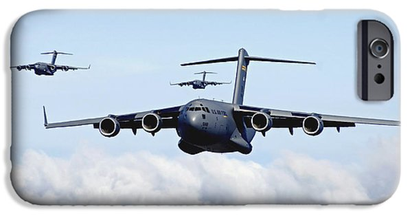 Iraq iPhone Cases - U.s. Air Force C-17 Globemasters iPhone Case by Stocktrek Images