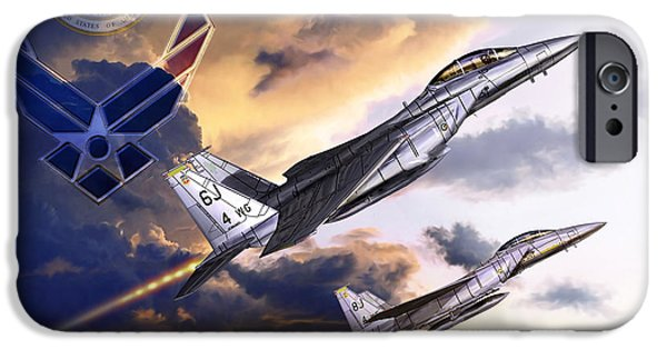 Jet Star iPhone Cases - US Air Force iPhone Case by Kurt Miller