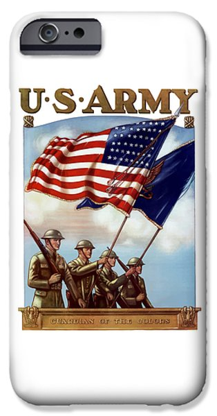 Flag iPhone Cases - US Army -- Guardian Of The Colors iPhone Case by War Is Hell Store