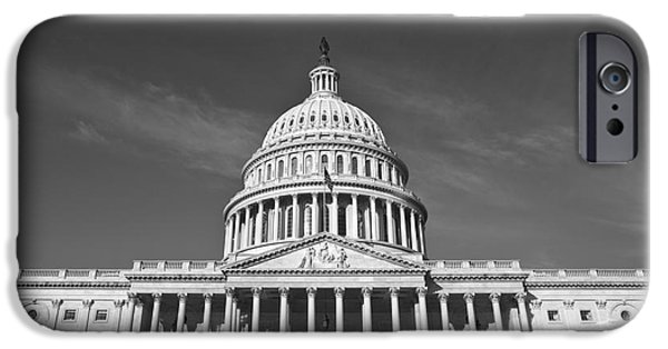 Capitol iPhone Cases - U.S. Capitol Building iPhone Case by Diane Diederich