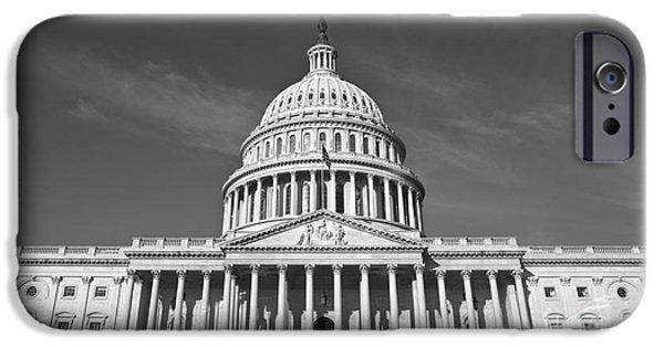 Capitol iPhone Cases - U.S. Capitol Building iPhone Case by Diane Diederich
