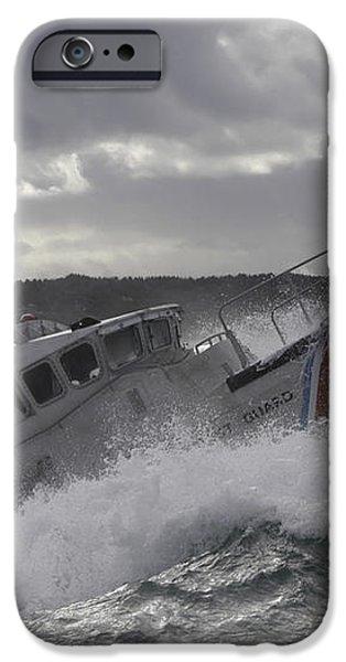 U.s. Coast Guard Motor Life Boat Brakes iPhone Case by Stocktrek Images