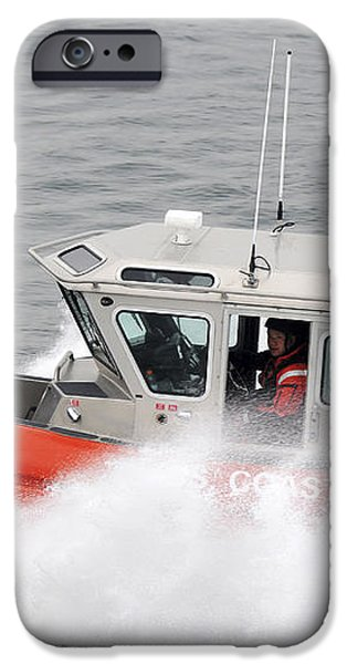 U.s. Coast Guardsmen Aboard A Security iPhone Case by Stocktrek Images
