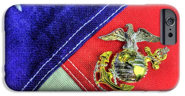 Recently Sold -  - Patriotism iPhone Cases - US Marine Corps iPhone Case by JC Findley