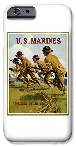 Marine iPhone Cases - US Marines - Soldiers Of The Sea iPhone Case by War Is Hell Store