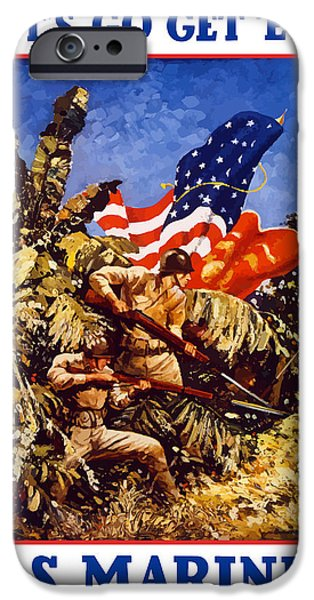 Marine iPhone Cases - US Marines iPhone Case by War Is Hell Store