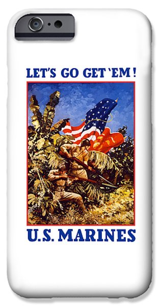 Marine iPhone Cases - US Marines - WW2  iPhone Case by War Is Hell Store