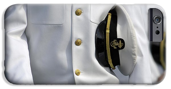 Graduation iPhone Cases - U.s. Naval Academy Midshipman In Dress iPhone Case by Stocktrek Images