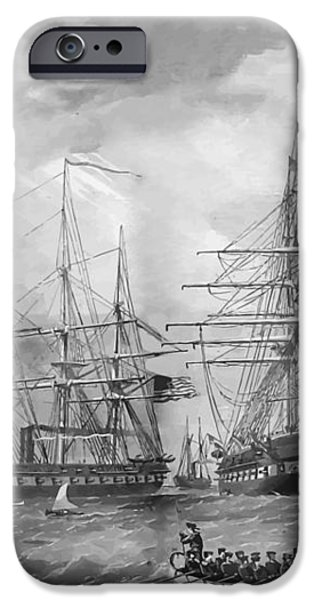 U.S. Naval Fleet During The Civil War iPhone Case by War Is Hell Store