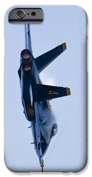 F-18 iPhone Cases - US Navy Blue Angels High Speed Turn iPhone Case by Dustin K Ryan