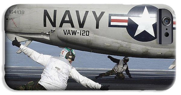 Electronic iPhone Cases - U.s. Navy Sailors Give The Thumbs iPhone Case by Stocktrek Images