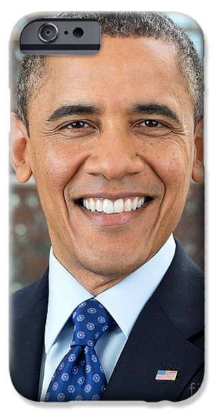 Barack Obama iPhone Cases - U.S. President Barack Obama  iPhone Case by MotionAge Designs
