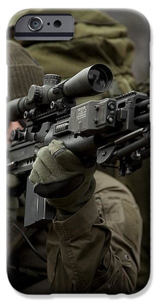 U.s. Special Forces Soldier Armed iPhone Case by Tom Weber