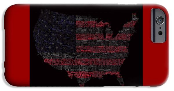 Old Glory Mixed Media iPhone Cases - USA 1a iPhone Case by Brian Reaves