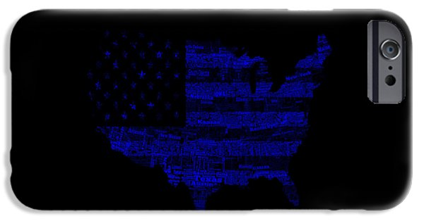 Old Glory Mixed Media iPhone Cases - Usa 1b iPhone Case by Brian Reaves