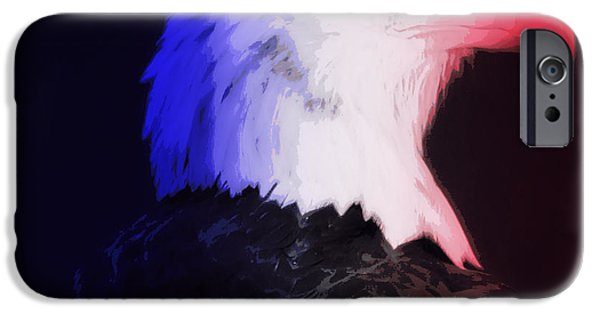 Nation iPhone Cases - USA Bald Eagle iPhone Case by Laurie Pike