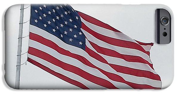 Old Glory iPhone Cases - USA Flag iPhone Case by Shelly Dixon