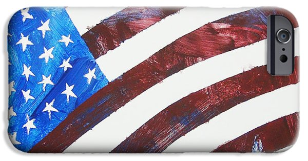 4th July Paintings iPhone Cases - USA Forever iPhone Case by Painted by a Horse