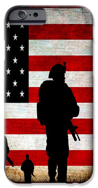 USA Military iPhone Case by Angelina Vick