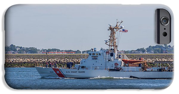 Law Enforcement iPhone Cases - USCGC Tybee WPB 1330 iPhone Case by Brian MacLean