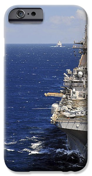 Uss Boxer Leads A Convoy Of Ships iPhone Case by Stocktrek Images