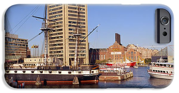 Constellations iPhone Cases - Uss Constellation, Inner Harbor iPhone Case by Panoramic Images