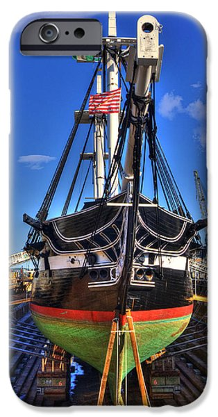Constitution iPhone Cases - USS Constitution - Boston MA iPhone Case by Joann Vitali