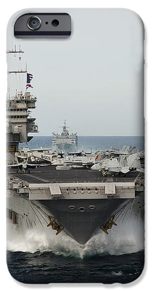 Uss Enterprise Transits The Atlantic iPhone Case by Stocktrek Images