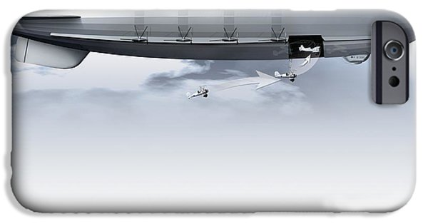 Helium iPhone Cases - Uss Macon, Artwork iPhone Case by Claus Lunau