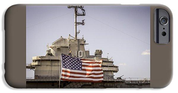 Yorktown iPhone Cases - USS Yorktown iPhone Case by Flora Ehrlich