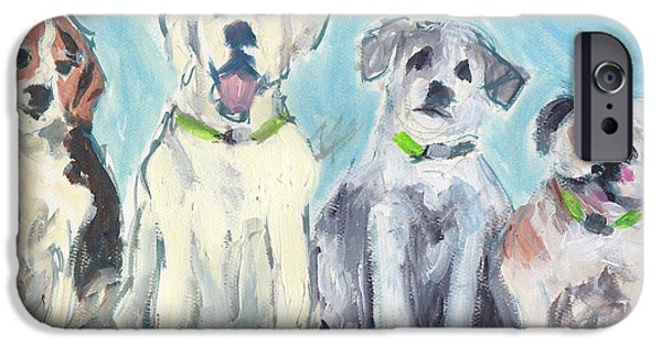 Loose Style Paintings iPhone Cases - Usual Suspects iPhone Case by Robin Wiesneth