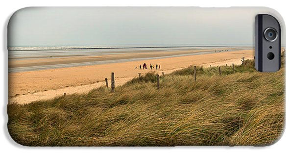 War iPhone Cases - Utah Beach - Normandy France iPhone Case by Jebulon