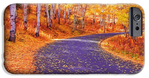 Fall iPhone Cases - Utah Fall Landscape iPhone Case by Carolyn Rauh