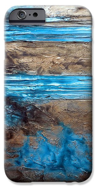 Abstract Seascape iPhone Cases - Utopia iPhone Case by Holly Anderson