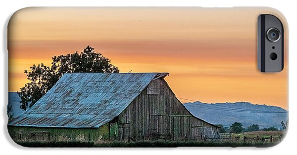 Old Barn iPhone Cases - Vaca Barn iPhone Case by Bill Gallagher