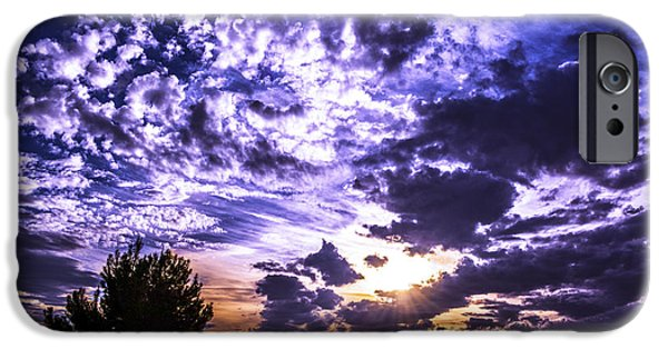 Winter Storm iPhone Cases - Vacaville Sunset After A Storm iPhone Case by Brian Tada