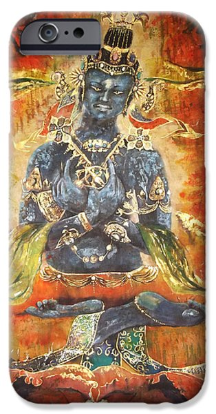 Recently Sold -  - Buddhism iPhone Cases - Vajrahadra #2 iPhone Case by Tilly Campbell-Allen