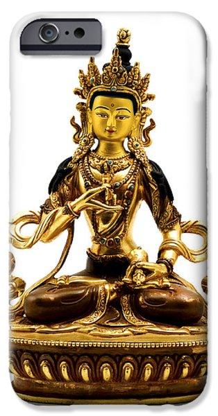 Buddhism Photographs iPhone Cases - Vajrasattva iPhone Case by Fabrizio Troiani