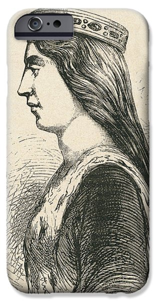 Duchess iPhone Cases - Valentina Visconti, 1368 iPhone Case by Ken Welsh